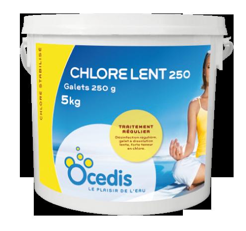 Chlore lent 250 g - 5kG